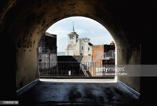 buildings seen through window - portsmouth england stock pictures, royalty-free photos & images
