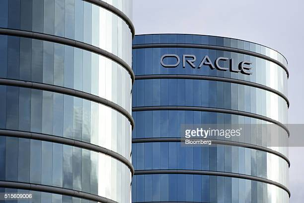 Buildings stand at the Oracle Corp headquarters campus in Redwood City California US on Monday March 14 2016 Oracle Corp is scheduled to release...