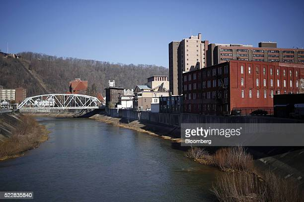 Buildings stand in Johnstown Pennsylvania US on Friday April 15 2016 An economic wave that washed away the steel industry and with it a way of life...