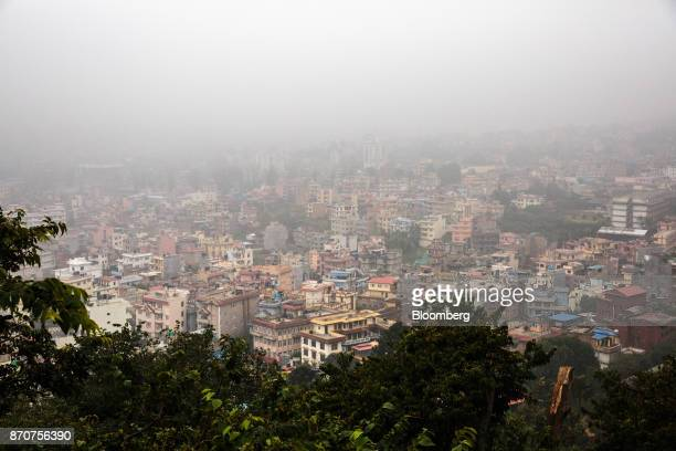 Buildings stand in Kathmandu Nepal on Wednesday Nov 1 2017 India and China have often jostled for influence in Nepal a nation of 28 million people...