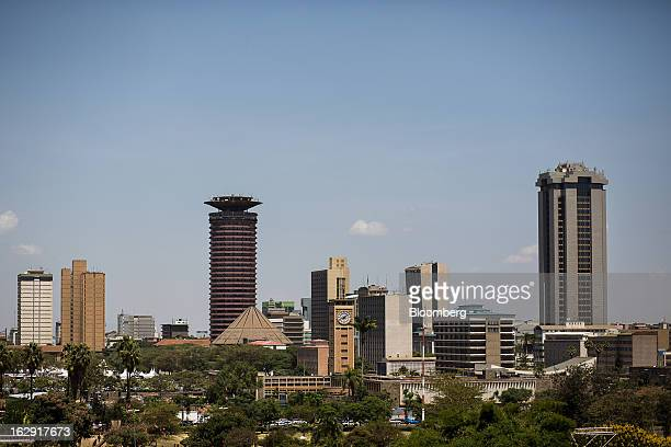 Buildings stand in the city skyline of Nairobi Kenya on Friday March 1 2013 Next week's presidential vote will be the first since disputed elections...