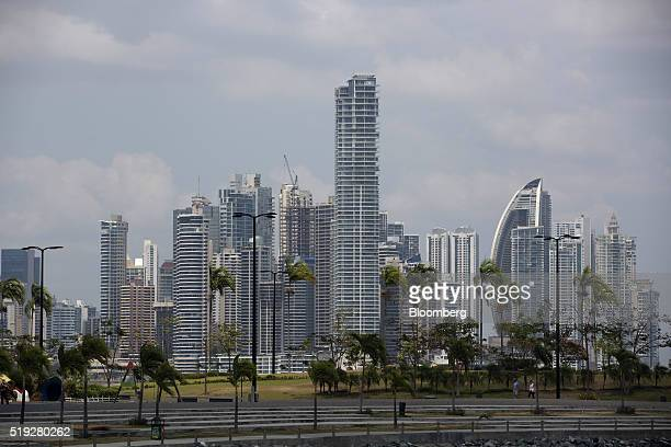 Buildings stand in the skyline of Panama City Panama on Tuesday April 5 2016 For decades Jurgen Mossack and Ramon Fonseca have been the goto guys in...