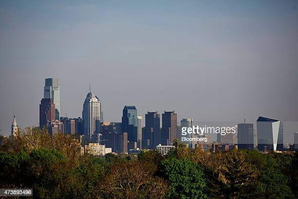 Buildings stand in the skyline of Philadelphia Pennsylvania US on Friday May 8 2015 Philadelphia the largest city in the Commonwealth of Pennsylvania...