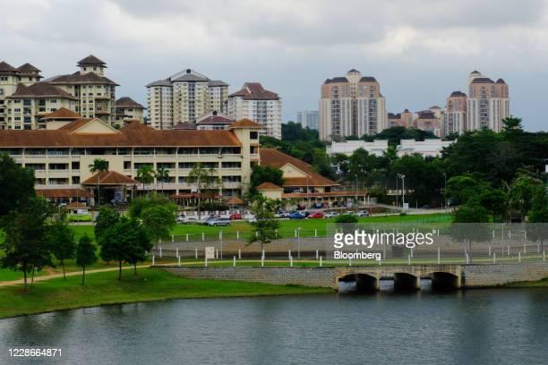 Buildings stand near Putrajaya Lake in Putrajaya Malaysia on Wednesday Sept 23 2020 Malaysias Prime Minister Muhyiddin Yassin urged people to reject...