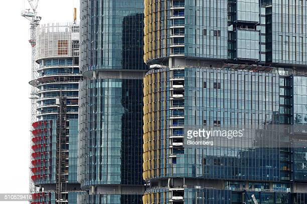 Buildings stand under construction at Lend Lease Group's Barangaroo redevelopment in Sydney Australia on Tuesday Feb 16 2016 Lend Lease Australia's...