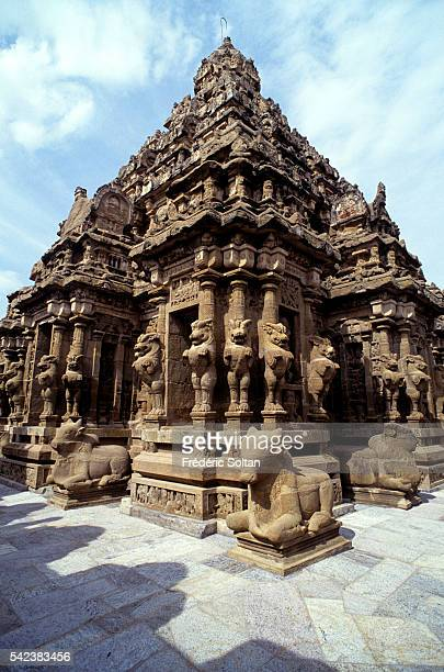 Built during the 8th century the Kailasanatha Temple is dedicated to Shiva View of the Yallis an imaginary beast