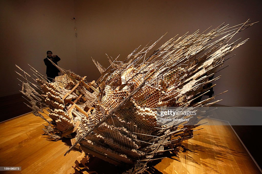 'Built from our Tallest Tales' work of the Syrian artist Diana Al-Hadid is seen at the Granet museum during the contempory art exhibition for Marseille-Provence 2013 European Capital of Culture on January 13, 2013 in Aix-en-Provence, France.