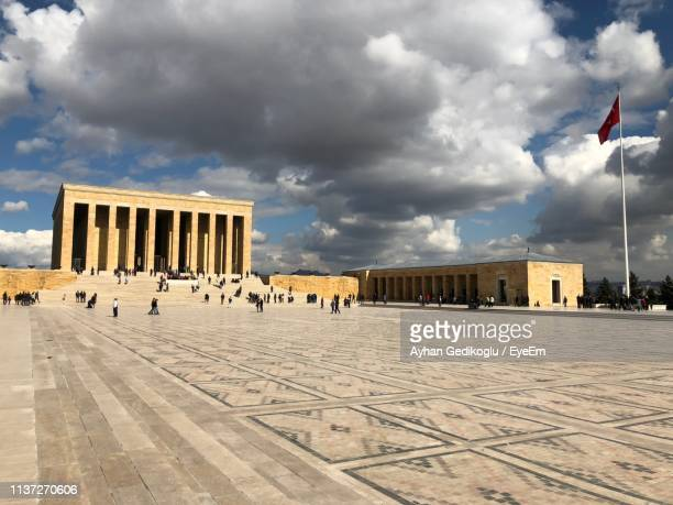built structure against cloudy sky in city - cankaya district ankara stock pictures, royalty-free photos & images