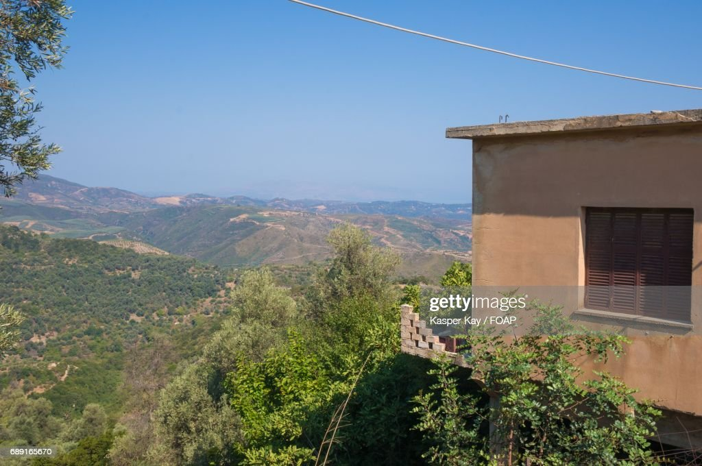 Built structure and scenic view of landscape : Stock Photo