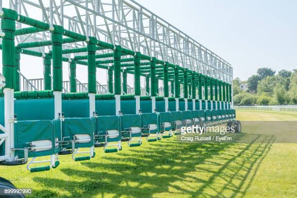 Built Structure On Field Against Clear Sky