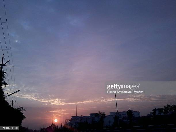 built structures against sunset - rekha stock pictures, royalty-free photos & images