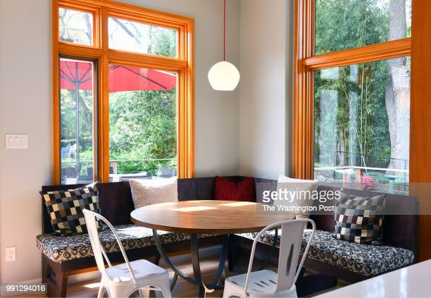Builtin seating area is carved out of the kitchen addition that has lots of oversized windows that let in lots of natural light May 06 2018 in...