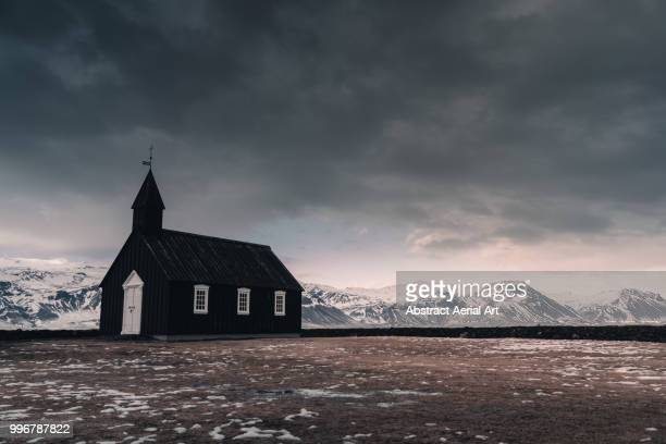 buðir black church, iceland - place of worship stock pictures, royalty-free photos & images