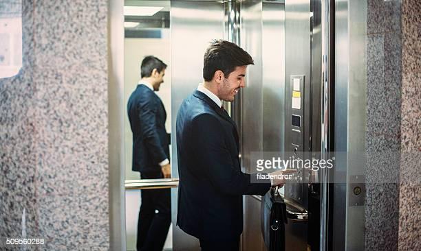 Buisnessman In The Elevator