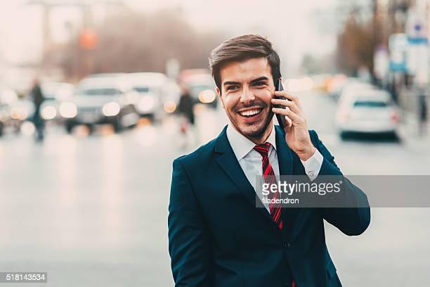 Buisnessman am Telefon