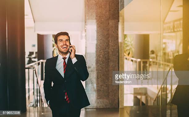 Buisnessman Talking On The Phone
