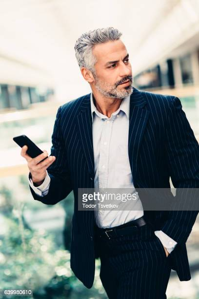 Buisnessman Texting On The Phone