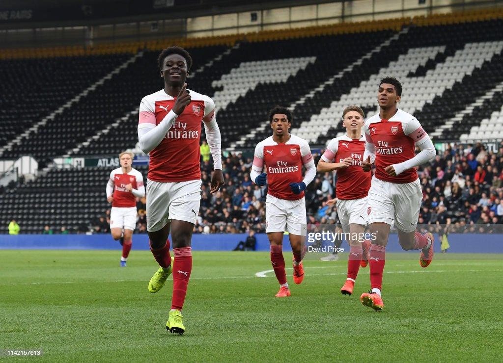 Derby County v Arsenal: U18 Premier League Playoff Final : ニュース写真