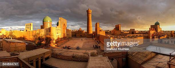 Bukhara old town sunset panorama
