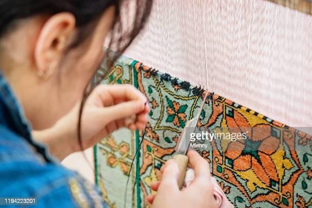 ブハラシルクロードカーペット結び目ウズベキスタンブキソロ - 中央アジア ストックフォトと画像