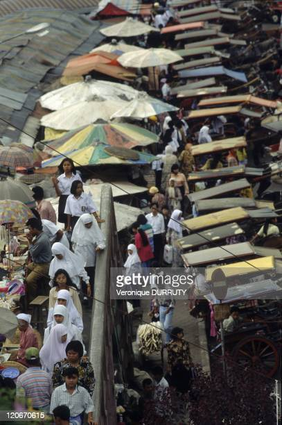 Bukittinggi market in Sumatra Indonesia Bukittinggi is one of the larger cities in West Sumatra Indonesia with a population of over 91000 people and...