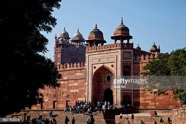 Buland Darwaza is a 15-storied high gateway that guards the Northeastern entrance of the city of Fatehpur Sikri. Historians have come to a consensus...