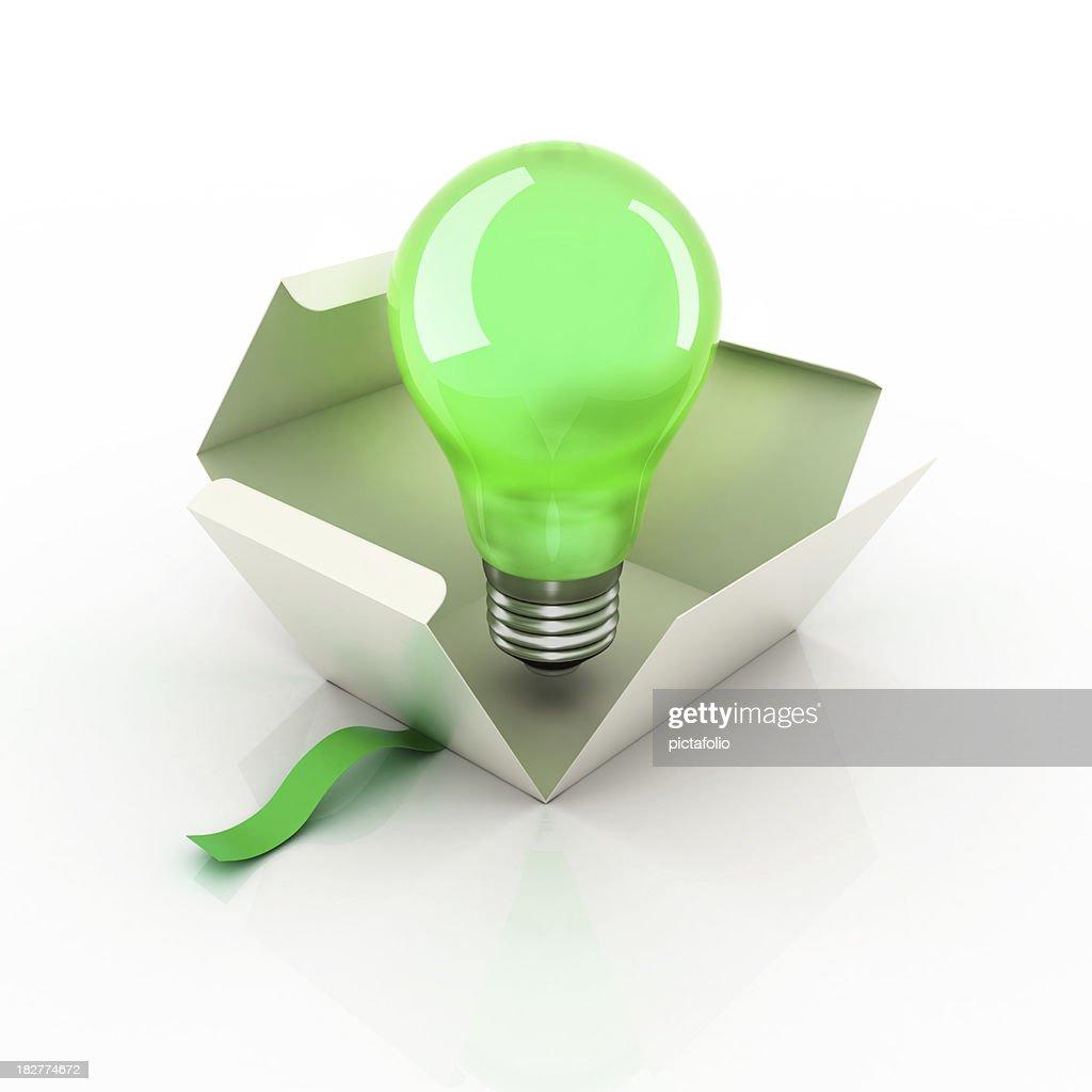 Bulb Idea Box : Stock Photo