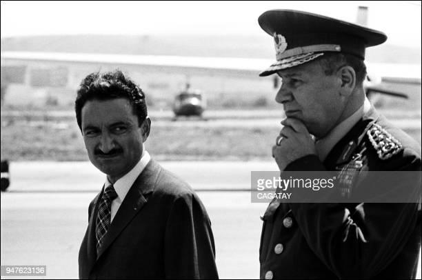 Bulent Ecevit with General Semih Sancar Turkey's army commander