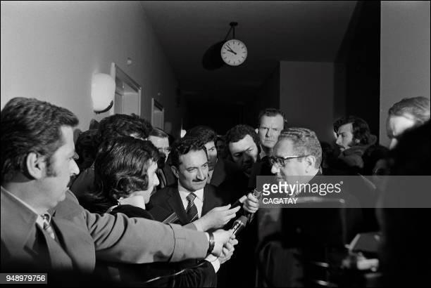 Bulent Ecevit with Henry Kissinger