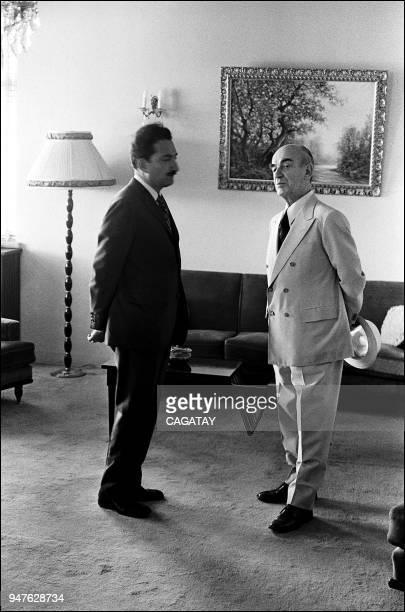 Bulent Ecevit with President Fahri Koruturk