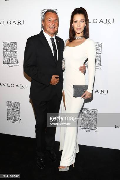 32a2a559816 Bulgari CEO JeanChristophe Babin and Bella Hadid attend Bulgari 5th Avenue  flagship store opening on October