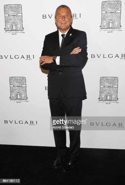 5d49c31acd8 Bulgari CEO JeanChristophe Babin attends Bulgari 5th Avenue flagship store  opening on October 20 2017 in