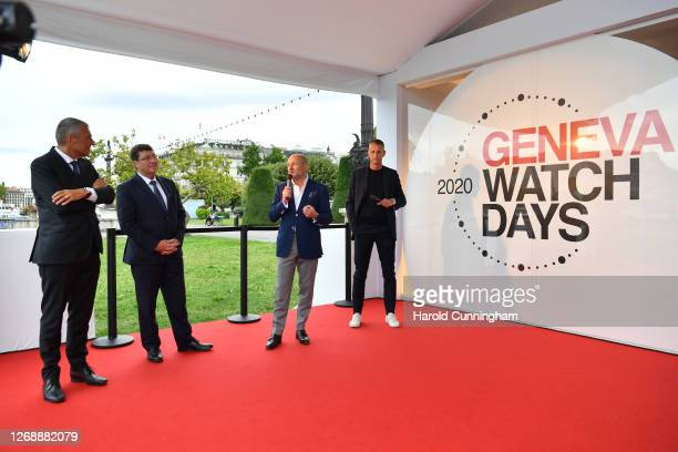 Bulgari CEO Jean-Christophe Babin, Council of State of Geneva Member Mauro Poggia, Breitling CEO Georges Kern and Ulysse-Nardin CEO Patrick Pruniaux...