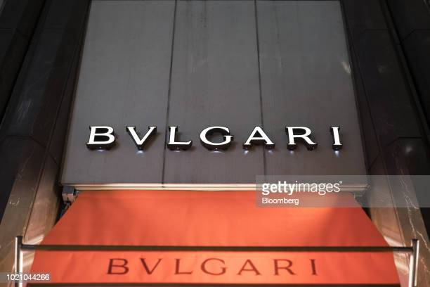 A Bulgari SpA store stands at night in the Ginza area of Tokyo Japan on Tuesday Aug 21 2018 Japan is scheduled to release February's Consumer Price...