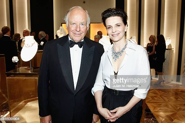 Bulgari VicePresident Nicola Bulgari and French actress Juliette Binoche attend the Bulgari Cocktail as part of Biennale des Antiquaires Pre Opening...