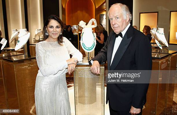 Bulgari VicePresident Nicola Bulgari and his wife Beatrice attend the Bulgari Cocktail as part of Biennale des Antiquaires Pre Opening at Le Grand...