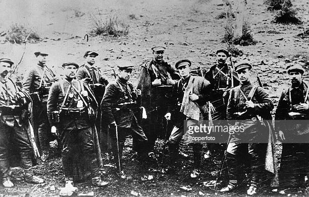 Bulgaria A rare picture showing Ivanko Mikhailov leader of the Macedonian Revoltionary Organisation with members of the terrorist band to which the...