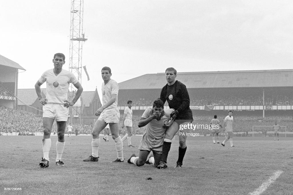 Soccer - World Cup England 1966 - Group Three - Brazil v Bulgaria - Goodison Park : News Photo