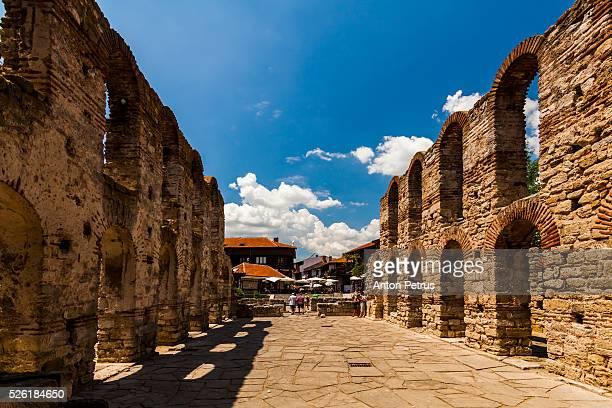 bulgaria, nessebar, stara mitropolia, ruins of old metropolitan church - bulgaria stock pictures, royalty-free photos & images