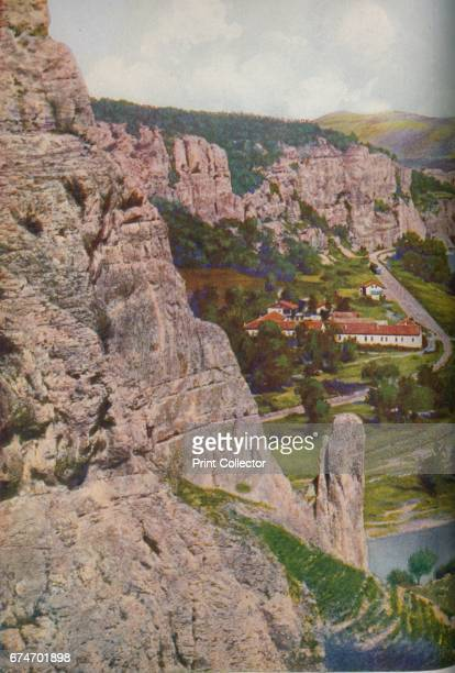 Bulgaria. Perpendicular limestone cliffs line the defile into which the river Isker, flowing northwards, turns after leaving the plain of Mezdra....