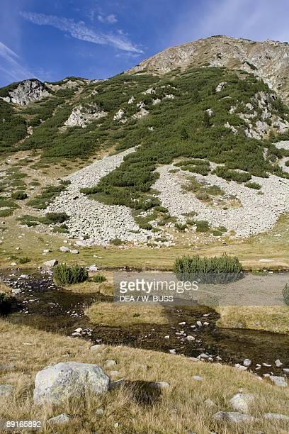 Bulgaria, Pirin Mountains, Pirin National Park, distant mountain