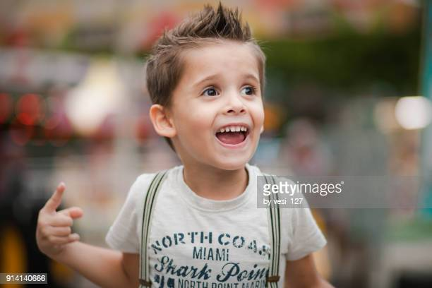 bulgaria, stylish boy 4-5 years explaining an idea - 4 5 years stock pictures, royalty-free photos & images