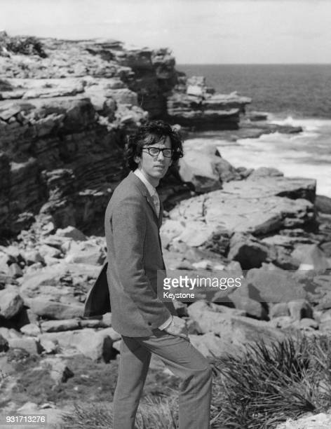 Bulgarian artist Christo Javacheff surveys Little Bay in Sydney Australia before wrapping it in yellow polypropylene 1969 Christo is working together...