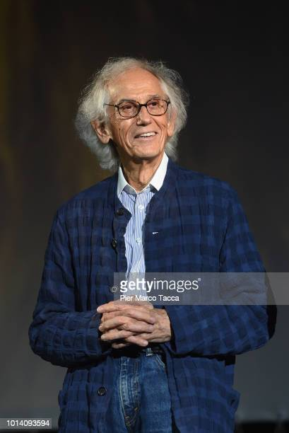 Bulgarian Artist Christo on stage during the 71st Locarno Film Festival on August 9 2018 in Locarno Switzerland