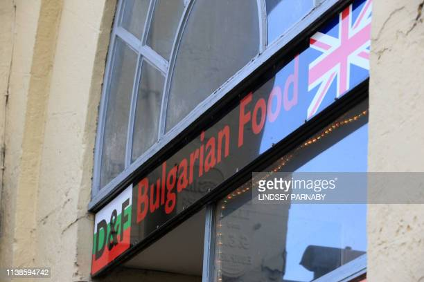 A Bulgarian food store is seen in the town of Boston in Lincolnshire northeast England April 18 2019 Boston registered Britain's strongest support...