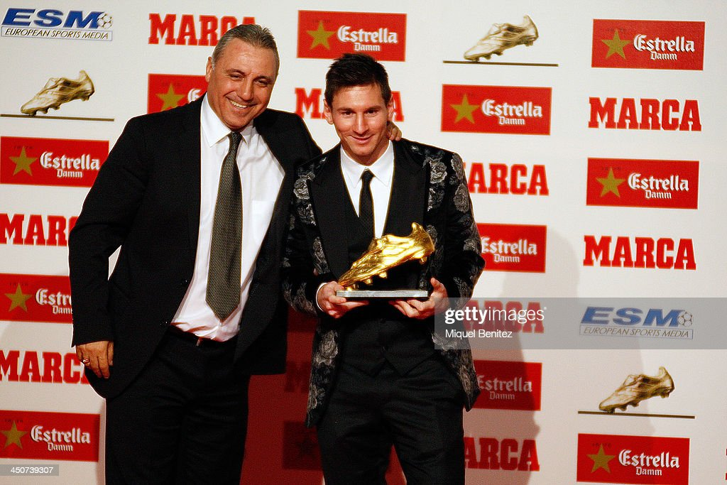 Leo Messi Receives 'Bota de Oro' Award 2013