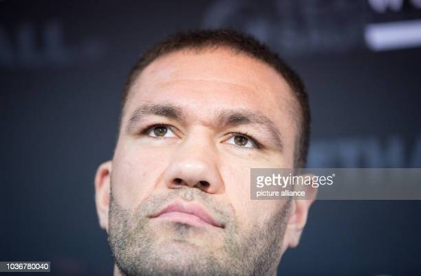 Bulgarian heavyweight boxer Kubrat Pulev attends a press conference inHamburg Germany 02 December 2015 Germany's Jack Culcay is due to face...