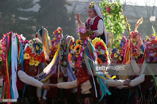 bulgarian parade - traditional dancing stock pictures, royalty-free photos & images