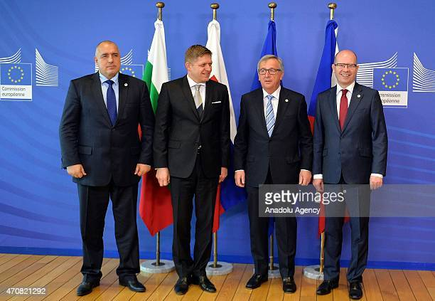 Bulgarian Prime Minister Boyko Borissov , Czech Prime Minister Bohuslav Sobotka , Slovak Prime Minister Robert Fico and President of the European...