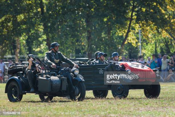 Bulgarian reenactors and bulgarian military special forces show their skills and perform historical military parade during the day of annual...